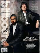 Chadwick Boseman And Mick Jagger Signed Autographed Get On Up Movie Magazine Bas
