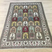 Yilong 4and039x6and039 Four Seasons Handknotted Silk Area Rug Classic Home Carpet 195a