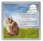 Ginger Cat No 2 Coaster And039someone To Comfortand039 Wording Starprint