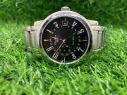 Zenith Elite Port Royal V Dual Time 02.0451.682 Mens Automatic Watch Ss 38mm