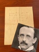 James M. Barrie Handwritten Letter Signed Great Peter Pan Content Wendy