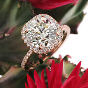 1.00 Carat Brillant Coupe Real Diamond Engagement Ring 14k Or Rose Taille M L- P