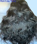 Stock Lace Front Raw Virgin Natrl Color Human Hair Wigs 12-30 150-200 Density