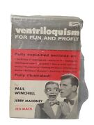 Rare Ventriloquism For Fun And Profit By Paul Winchell Inspired By Jerry Mahoney