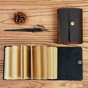 Mini Handmade Leather Cover Journal Notebook Pocket Vintage Travel Diary Book