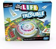 《new》hasbro Gaming Game Mashups - The Game Of Life Trouble Game