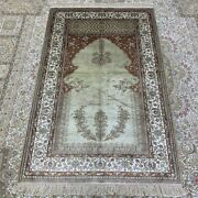 Yilong 3and039x5and039 Antique Living Room Hand Knotted Silk Rug Home Decor Carpet 257b