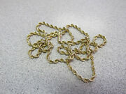 Unisex 24 Inch X 3 Mm Rope Chain Necklace 100 Solid 14k Gold Make Offer
