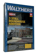 Walthers Cornerstone Ho 3-stall Modern Roundhouse Addition Kit 933-2901