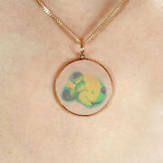 9ct Gold Hologram Pendant - Disney Mickey Small + Chain Very Rare Only 1 Left
