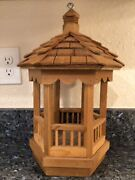 Wooden Miniature Toy Gazebo For Dolls Props Or Bird House Wood Bird Feeder