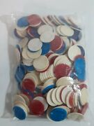 Huge Lot Mixed Vintage Poker Chips Hoyle Etc... Almost 2 Lbs