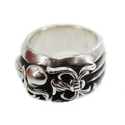 Chrome Hearts Silver Keeper Finger Ring Silver Vintage Authentic Qq295 S