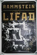 Rammstein Original Promo Signed Autographed Poster 2010 Liebe Ist Fur Alle