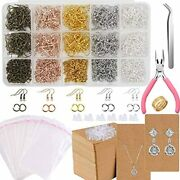 Earring Hooks For Jewelry Making 2206pcs Supplies Kit With Fish Holder Cards