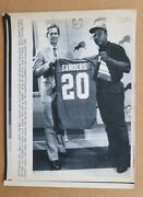 Detroit Lions Barry Sanders Draft Day Sept 7, 1989 Vintage Wire Photo