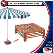2' X 2' X 9.8 Wooden Parasol Stand Cover Acacia Hardwood With Light Oil Finish