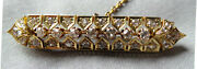 Ornate 18ct Yellow Gold And Old-cut Diamond Brooch