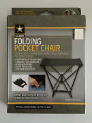 Us Army Folding Pocket Chair Sports Beach Camping Fishing Backpacking Man Cave