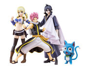 Pre-order Fairy Tail X Bfull Figure Natsu Lucy Zeref + Happy Limited Quantity