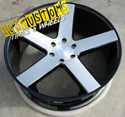 24 24x10 6x135 +30 Dub S217 Baller Black Brushed Wheels Only Ford F-150