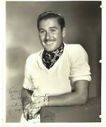 Errol Flynn Signed Photo With Memories Of Captain Blood
