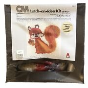Vintage Cm Columbia-minerva Latch-an-idea Kit 12 X 12 Happy Squirrel K3619
