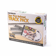Bachmann Bac44596 Ho-scale First Railroad Track Pack 45 Pcs Nickel-silver+dvd
