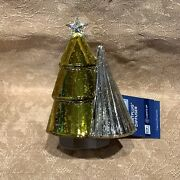 Yankee Candle Pleated Trees Faux Mercury Glass Light Up Scent Plug Diffuser