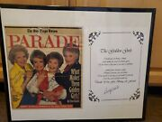 Golden Girls Signed Parade Magazine Cover Plus Additional Betty White Signed...