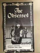 Vtg The Obsessed Wino Minor Threat 11x17 80and039s Poster Authentic Genuine Rare Dc