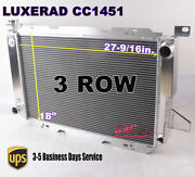 3 Row Aluminum Radiator For 1985-1996 Ford F-150 F250 8cyl W/ Heavy Duty Cooling