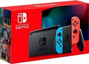 Nintendo Switch With Neon Blue And Neon Red Joycon - Hac-001-01