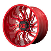 Xd Series Xd858 Tension Rim 22x12 6x135 Offset -44 Red Milled Quantity Of 4