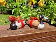 Vintage Duck Decoy Red Head Canvas Back Duck And A Canadian Goose Set Of 2 Enesco