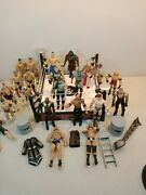 Wwe Raw Wrestling Ring Spring Loaded Ring Mattel 2013 With Action Figures Lot 22