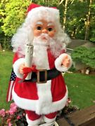 Vintage Santa Claus Motion And Lighted Candle Doll Large 25 Christmas Lamp Rare