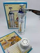Marcato Biscuits Machine Made In Italy. Includes 20 Aluminum Cookie Maker Nob