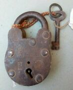 Antique Old Iron Standerd R.p. Locks With Key Working Condition