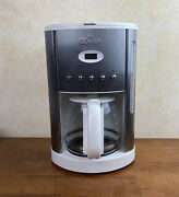 Gevalia Kaffe White 12-cup Programmable Cm500 Automatic Coffee Maker Excellent