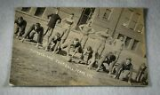 1911 Cumberland Football Real Photo Postcard-nice Condition-great Image