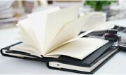 Notebook Planner Book With Genuine Leather Cover A5/a6 With/without Insert Book