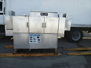 Hobart Clps76e Opti Rinse Stainless Steel Commercial Dishwasher 3 Door Used Look