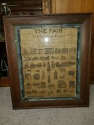 Very Old 1898 Toy Store Fair Print Advertisement In Frame