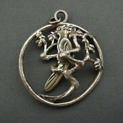 Napier Sterling Silver Pendant Articulating Bird On Branch Video 1.75 In Nouveau