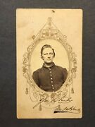Antique Identified Civil War Soldier Yours Truly George W Howe Cdv Photo