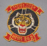Fantastic Hmm 262 Vietnam Era Japanese Made Squadron Patch Flying Tiger Airlines