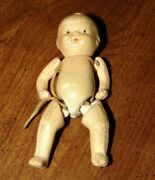 Vintage Miniature 1930and039s Japan Bisque Boy Doll Jointed Arms And Legs