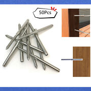50pcs T316 Stainless Steel Lag Stud Swage Screw For Railing Decking 1/8 Cable