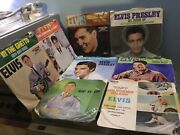 L@@k Elvis Presley 9 X 7 U.s Vinyl Record Collection 45 From Vg To Ex L@@k Rare